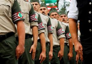 "Members of the controversial new extreme-right ""Magyar Garda""."